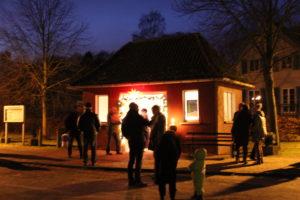 Buswartehäuschen Adventsdorf Rieth