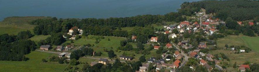 Streuobstwiese Dorfgarten Rieth in Vorpommern Luftbildaufnahme Walter Graupner