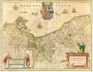Pommern Karte von 1635