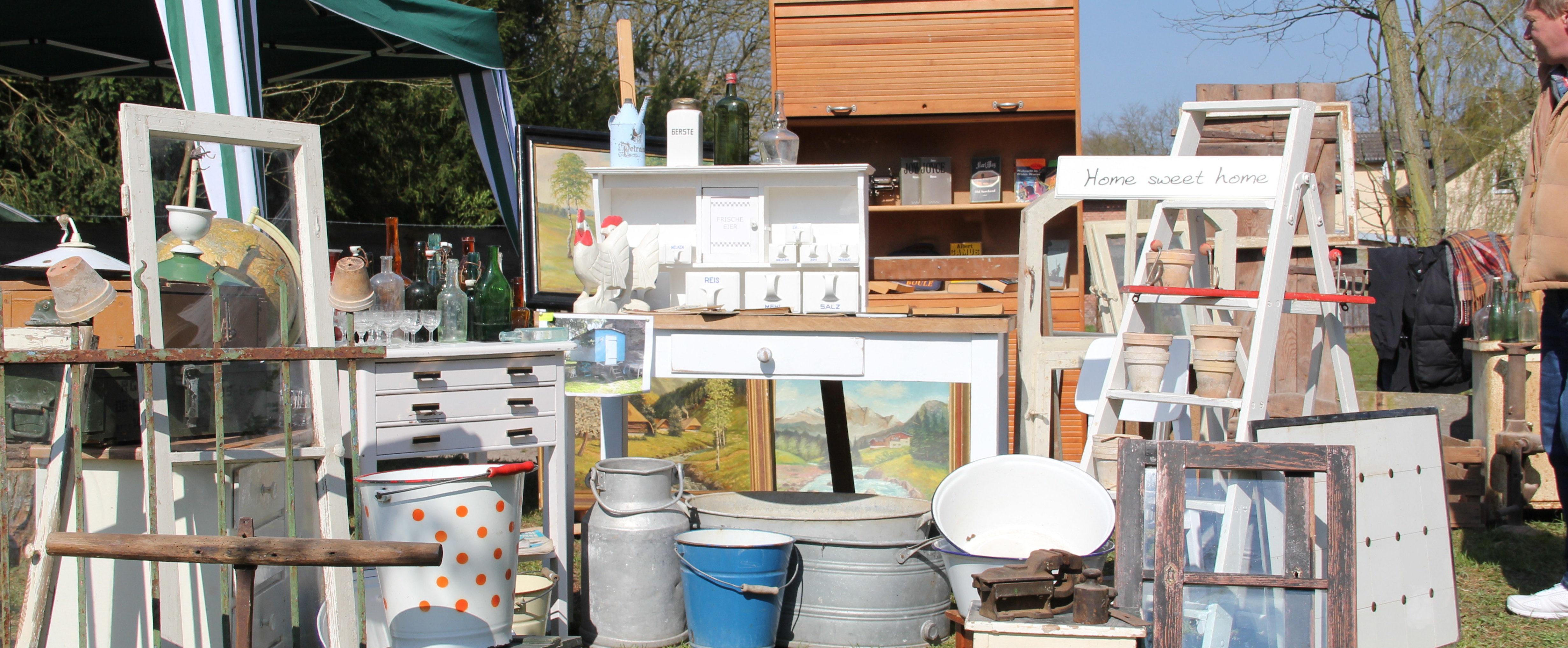Riether Hoftrödelmarkt ein Dorf wird zum Flohmarkt